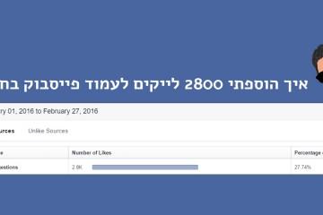 """איך לקבל לייקים חדשים לדף פייסבוק בסטייל """"תן וקח"""""""
